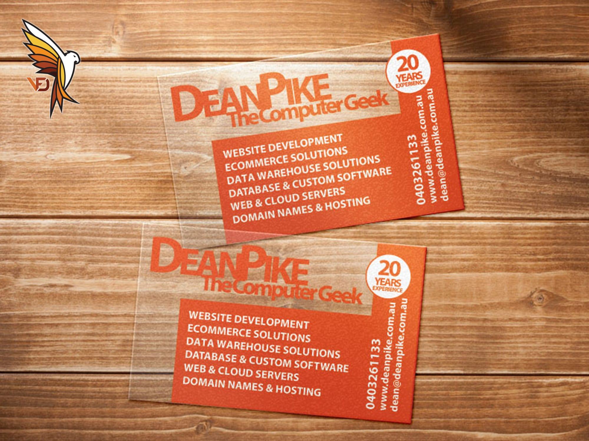 Dean Pike Computer Geek - Business Card