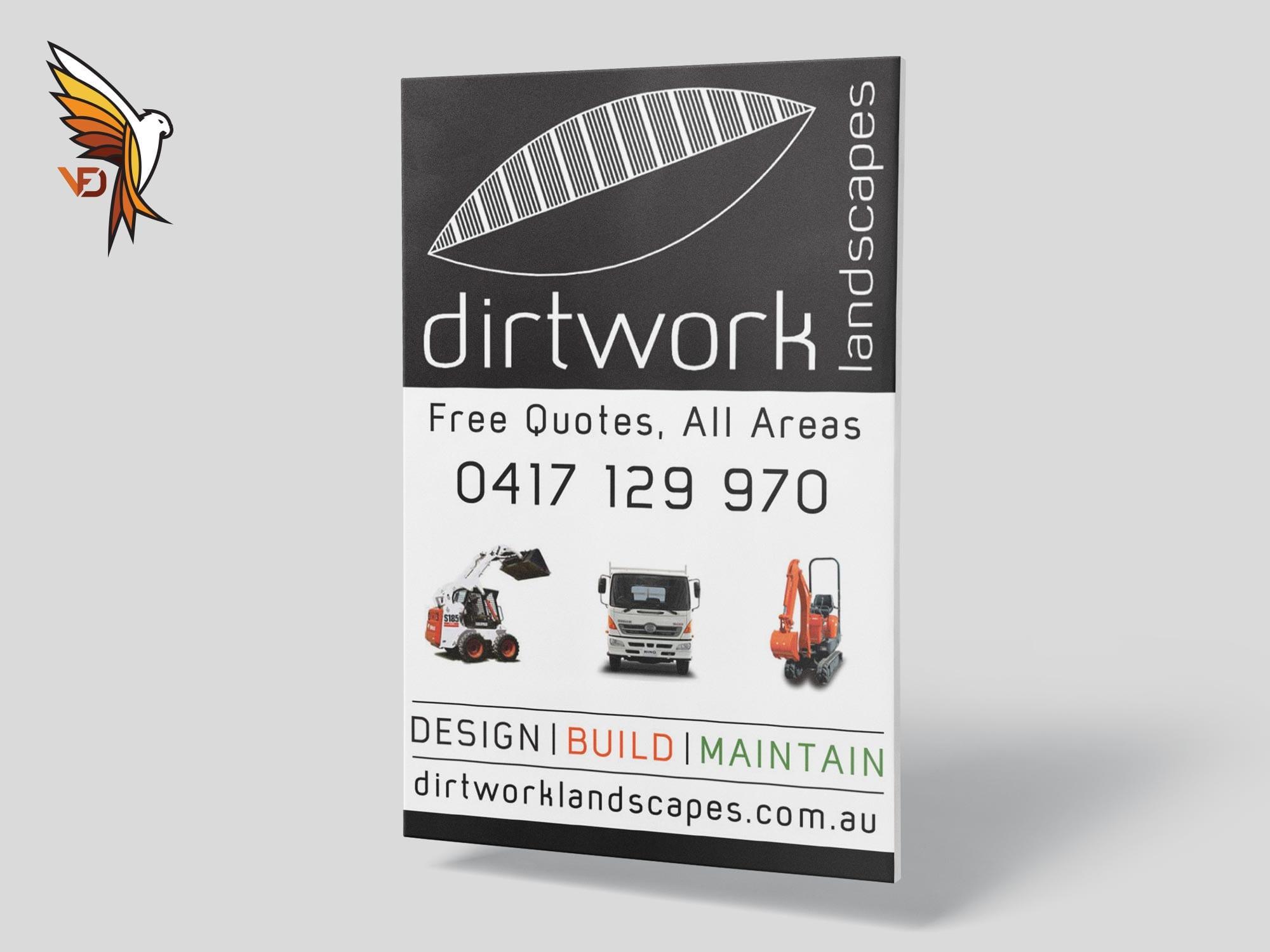 Dirtwork Landscapes - Pull Up Banner